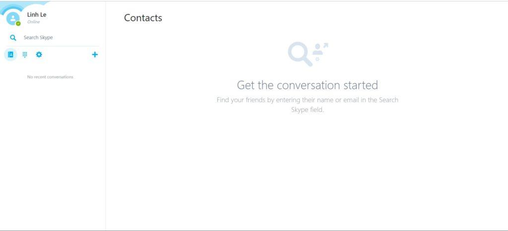 đăng nhập skype online
