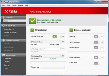 Phần mềm diệt virusAvira Free Antivirus 2019